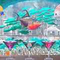 The Reef Martini Bar In Soft Underwater Tones by Debra and Dave Vanderlaan