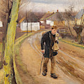 The Road Through The Village Of Ring by Laurits Andersen Ring