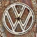 The Rusty Vw Emblem  by JC Findley