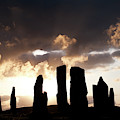 The Stones At Callanish Silhouette by Tim Gainey