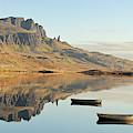 The Storr Reflecting In Loch Fada - Panorama by Maria Gaellman