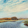 The Susaa River At Naestved, Denmark by Laurits Andersen Ring