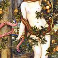 The Temptation Of Eve John Roddam Spencer Stanhope by John Roddam Spencer Stanhope
