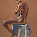 The Thinker Male Model Study In Gouache by Irina Sztukowski