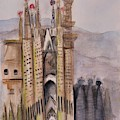The Towers Of Sagrada Familia by Laurie Morgan