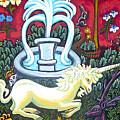 The Unicorn And Garden by Genevieve Esson