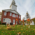 The United Church Halloween Scarecrows Bethel Vermont Vt Autumn Fall Colors by Toby McGuire
