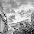 The Varsity Neon Under Morning Clouds - Atlanta Georgia Monochrome by Gregory Ballos
