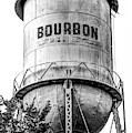 The Vintage Bourbon Water Tower - High Contrast Monochrome Edition by Gregory Ballos
