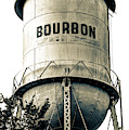 The Vintage Bourbon Water Tower - High Contrast Sepia Edition by Gregory Ballos