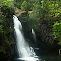 The Waterfall At Kaumahina Wayside by Marie Leslie