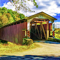 The White Rock Forge Covered Bridge by Nick Zelinsky