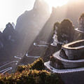 The Winding Road Of Tianmen Mountain by Kikujungboy