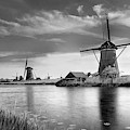 The Windmills Of Kinderdijk 2 by Wolfgang Stocker