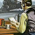 Thomas Edison, The Railway Telegraphist  by Ron Embleton