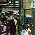 Thornton & Family At Bus Station by Gordon Parks