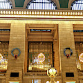 Three Chandeliers At Grand Central Terminal by John Rizzuto