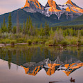 Three Sisters Driftwood Reflections by Adam Jewell