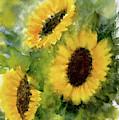 Three Sunflowers by Asha Sudhaker Shenoy