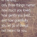 Three Things That Matter by Terry Rowe