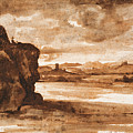 Tiber Landscape North Of Rome Wi  by Claude Lorrain