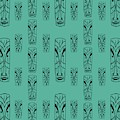 Tikis On Teal by Donna Mibus