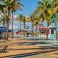 Times Square In Fort Myers Beach Florida by Tom Mc Nemar