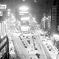 Times Square Is Covered In A White by New York Daily News Archive