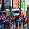 Times Square, People, Lights, Action by Kay Brewer