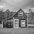 Tiny House Vermont Black And White by Edward Fielding