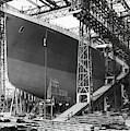 Titanic In Belfast Dry Dock 1911 by Daniel Hagerman