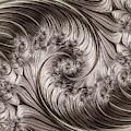 Titanium Double Fractal Spiral by Hakon Soreide