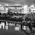 Titans Football Stadium On The River - Nashville Tennessee Monochrome by Gregory Ballos