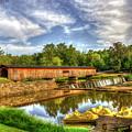To His Glory Watson Mill Covered Bridge Madison County Ga Art by Reid Callaway