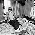 Tom Petty Poses In His Tour Bus by George Rose