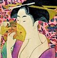 Top Quality Art - Woman With A Comb by Kitagawa Utamaro