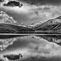 Topaz Lake Winter Reflection, Black And White by Jeff Sullivan