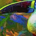 Toucan Tambopata Abstract by Alice Gipson