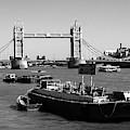 Tower Bridge From The River Thames by Aidan Moran