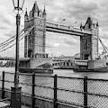 Tower Bridge London And Light Post  by John McGraw