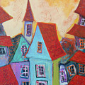 Town With Yellow Sky 2 by Maxim Komissarchik