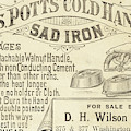 Trade Card For Mrs Potts Cold Handle Sad Iron by American School