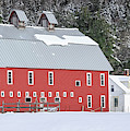 Traditional New England Red Dairy Barn Grantham New Hampshire Panoramic by Edward Fielding