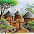 Traditional Village by Anthony Mwangi