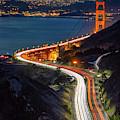 Traffic Racing Over The Golden Gate Bridge by Kristen Wilkinson