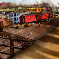 Train - Accident - The Old Switcheroo 1909 by Mike Savad