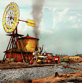 Train - Civil - The Windmill At Laramie 1869 by Mike Savad