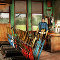 Train - Controls - In The Signal Tower 1940 by Mike Savad