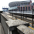Train Tracks Servicing King Street Station Near Centurylink Field And T-mobile Park Seattle R1423 by Wingsdomain Art and Photography