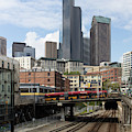 Train Tracks Servicing King Street Station Near Centurylink Field And T-mobile Park Seattle R1479 by Wingsdomain Art and Photography